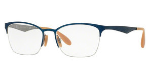 Ray-Ban RX6345 2865 TOP BRUSHED LIGHT BLUE ON GREY