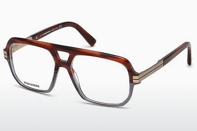 Lunettes design Dsquared DQ5208 065 - Corne, Horn, Brown