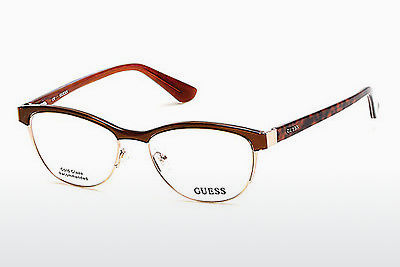 Lunettes design Guess GU2523 048 - Brunes, Dark, Shiny
