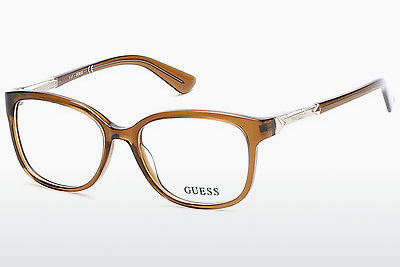 Lunettes design Guess GU2560 045 - Brunes, Bright, Shiny