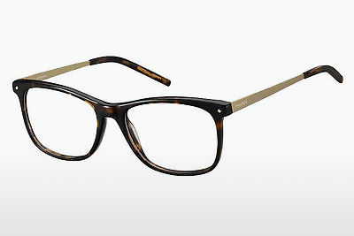 Lunettes design Polaroid PLD D308 1U2 - Or, Brunes, Havanna