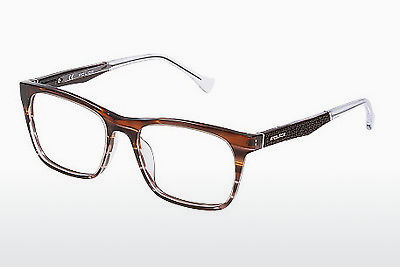 Lunettes design Police CLOSE UP 6 (VPL056 0C00) - Brunes, Havanna