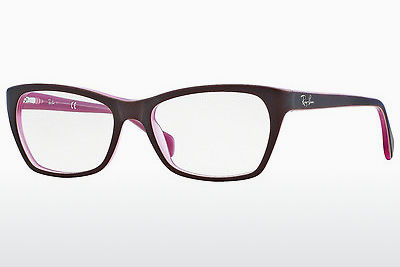 Lunettes design Ray-Ban RX5298 5386 - Brunes, Rose