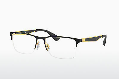 Lunettes design Ray-Ban RX6335 2890 - Or, Noires