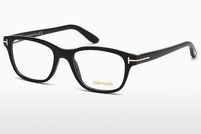 Lunettes design Tom Ford FT5196 001 - Noires, Shiny