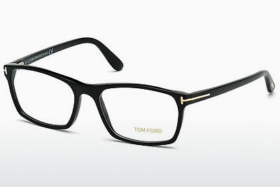 Lunettes design Tom Ford FT5295 001 - Noires, Shiny
