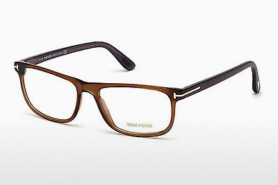 Lunettes design Tom Ford FT5356 048 - Brunes, Dark, Shiny