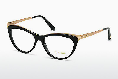 Lunettes design Tom Ford FT5373 001 - Noires, Shiny