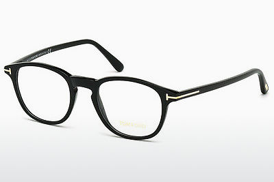 Lunettes design Tom Ford FT5389 001 - Noires, Shiny