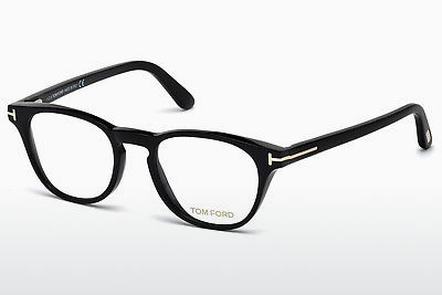 Lunettes design Tom Ford FT5410 001 - Noires, Shiny