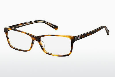 Lunettes design Tommy Hilfiger TH 1450 9UO - Jaunes, Brunes, Havanna