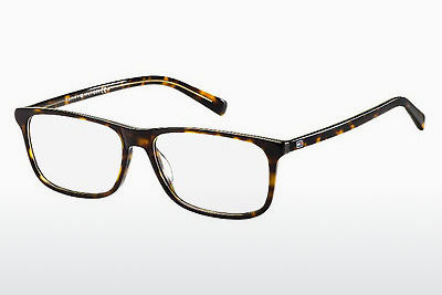 Lunettes design Tommy Hilfiger TH 1452 A84 - Jaunes, Brunes, Havanna