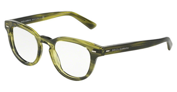 Dolce & Gabbana DG3225 2926 STRIPED OLIVE GREEN