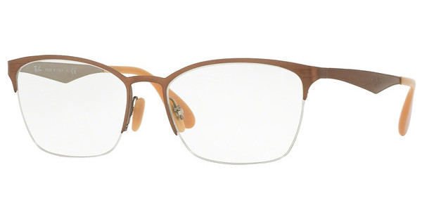 Ray-Ban   RX6345 2732 BRUSHED LIGHT BROWN ON GREY