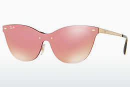 Lunettes de soleil Ray-Ban Blaze Cat Eye (RB3580N 043/E4) - Rose, Or