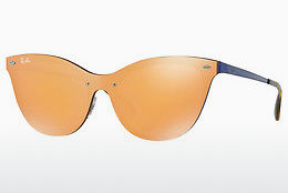 Lunettes de soleil Ray-Ban Blaze Cat Eye (RB3580N 90377J) - Orange, Bleues
