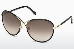 Zonnebril Tom Ford Rosie (FT0344 01B) - Zwart, Shiny