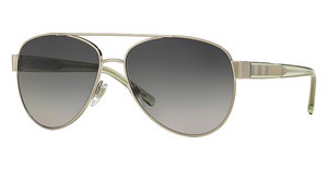 Burberry BE3084 1166T3 POLAR GREY GRADIENTBRUSHED SILVER