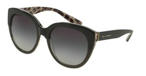 Dolce & Gabbana DG4259 28578G GREY GRADIENTTOP BLACK ON LEO