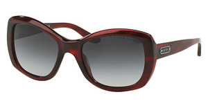 Ralph Lauren RL8132 55228G GREY GRADIENTSTRIPPED RED HAVANA