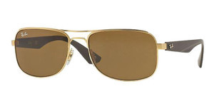 Ray-Ban RB3524 112/73 DARK BROWNMATTE GOLD