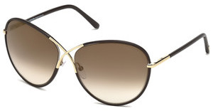 Tom Ford FT0344 48G braun verspiegeltbraun dunkel glanz