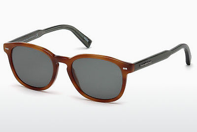 Zonnebril Ermenegildo Zegna EZ0005 53N - Havanna, Yellow, Blond, Brown