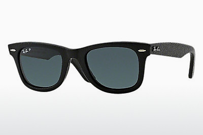 Zonnebril Ray-Ban WAYFARER LEATHER (RB2140QM 1152N5) - Zwart