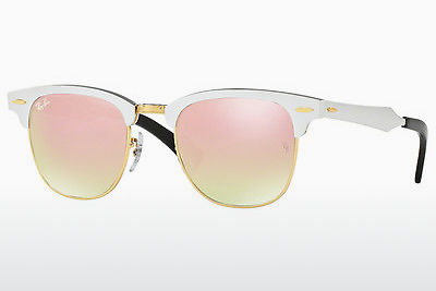 Zonnebril Ray-Ban CLUBMASTER ALUMINUM (RB3507 137/7O) - Wit