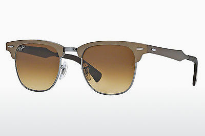 Zonnebril Ray-Ban CLUBMASTER ALUMINUM (RB3507 139/85) - Bruin, Grijs