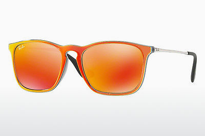 Lunettes de soleil Ray-Ban CHRIS (RB4187 63206Q) - Grises, Orange