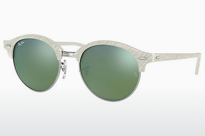Lunettes de soleil Ray-Ban Clubround (RB4246 988/2X) - Blanches
