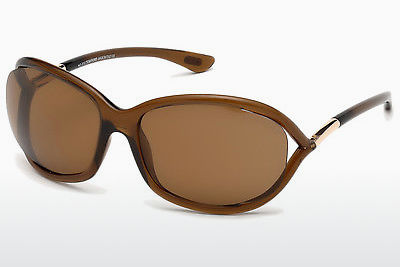 Lunettes de soleil Tom Ford Jennifer (FT0008 48H) - Brunes, Dark, Shiny