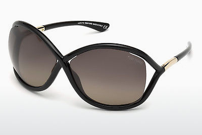 Zonnebril Tom Ford Whitney (FT0009 01D) - Zwart, Shiny