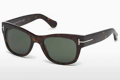 Lunettes de soleil Tom Ford Cary (FT0058 52N) - Brunes, Dark, Havana
