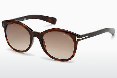 Lunettes de soleil Tom Ford Riley (FT0298 52F) - Brunes, Dark, Havana