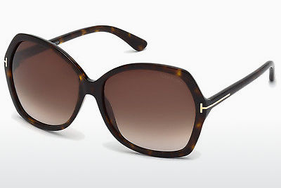 Lunettes de soleil Tom Ford Carola (FT0328 52F) - Brunes, Dark, Havana