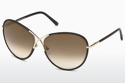 Lunettes de soleil Tom Ford Rosie (FT0344 48G) - Brunes, Dark, Shiny