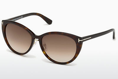 Lunettes de soleil Tom Ford Gina (FT0345 52F) - Brunes, Dark, Havana