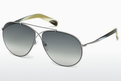 Lunettes de soleil Tom Ford Eva (FT0374 15B) - Grises, Shiny, Matt