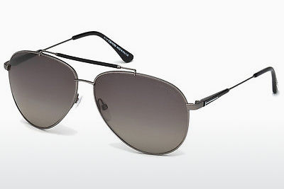 Zonnebril Tom Ford Rick (FT0378 10D) - Grijs, Nickel, Tin, Bright, Shiny
