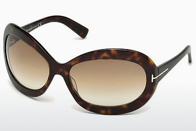 Lunettes de soleil Tom Ford Edie (FT0428 52F) - Brunes, Dark, Havana
