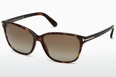 Lunettes de soleil Tom Ford Dana (FT0432 52H) - Brunes, Dark, Havana