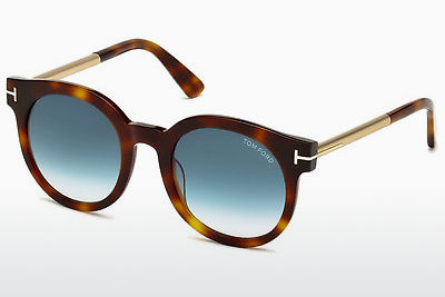 Lunettes de soleil Tom Ford Janina (FT0435 52P) - Brunes, Dark, Havana