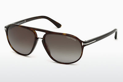 Lunettes de soleil Tom Ford Jacob (FT0447 52B) - Brunes, Dark, Havana