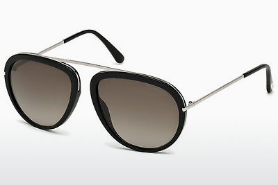 Lunettes de soleil Tom Ford Stacy (FT0452 01K) - Noires, Shiny