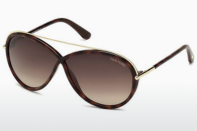 Lunettes de soleil Tom Ford Tamara (FT0454 52K) - Brunes, Dark, Havana
