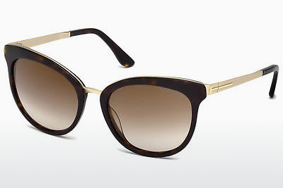 Lunettes de soleil Tom Ford Emma (FT0461 52G) - Brunes, Dark, Havana