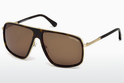 Lunettes de soleil Tom Ford FT0463 52K - Brunes, Dark, Havana