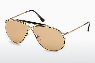 Lunettes de soleil Tom Ford Tom N.6 (FT0489-P 28E) - Or